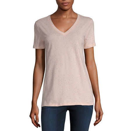 a.n.a Womens Short Sleeve T-Shirt, X-small , Pink