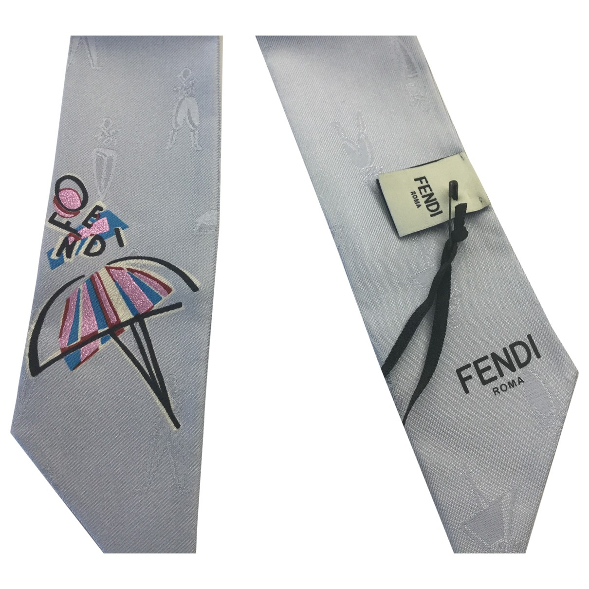 Fendi \N Turquoise Silk scarf for Women \N