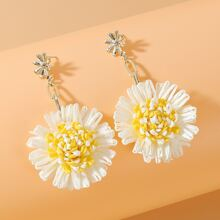 Floral Charm Drop Earrings