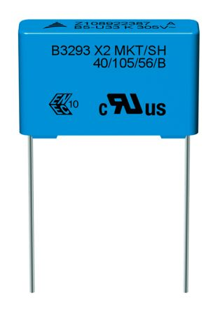 EPCOS 680nF Polyester Capacitor PET 305V ac ±20% (5)
