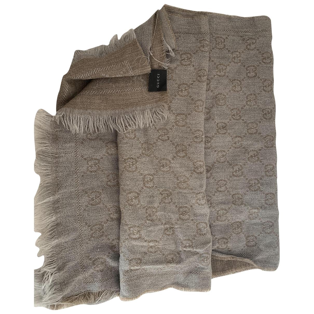 Gucci \N Grey Cotton scarf for Women \N