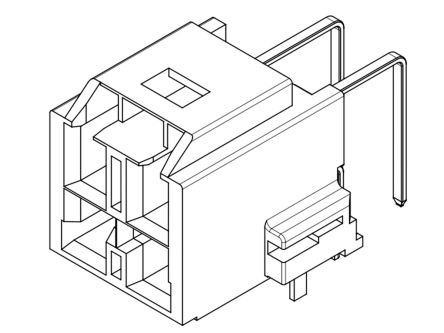 Molex , CP-6.5, 203555, 4 Way, 2 Row, Right Angle PCB Header (30)