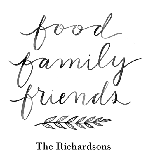 Non-Photo Wood Hanger Board Print, 11x14, Home Décor -Food Family Friends