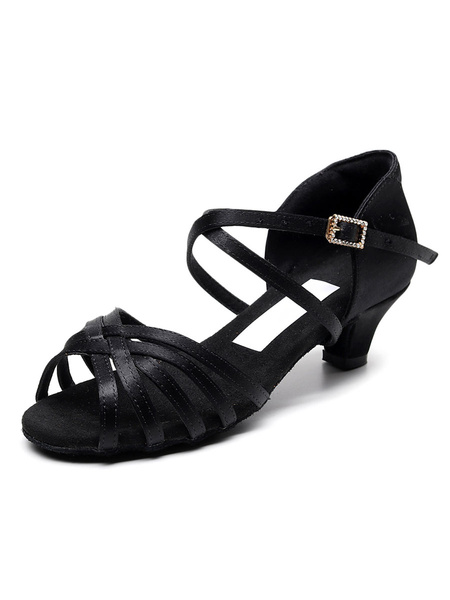Milanoo Kids Latin Dance Shoes Girl Ballroom Dance Shoes