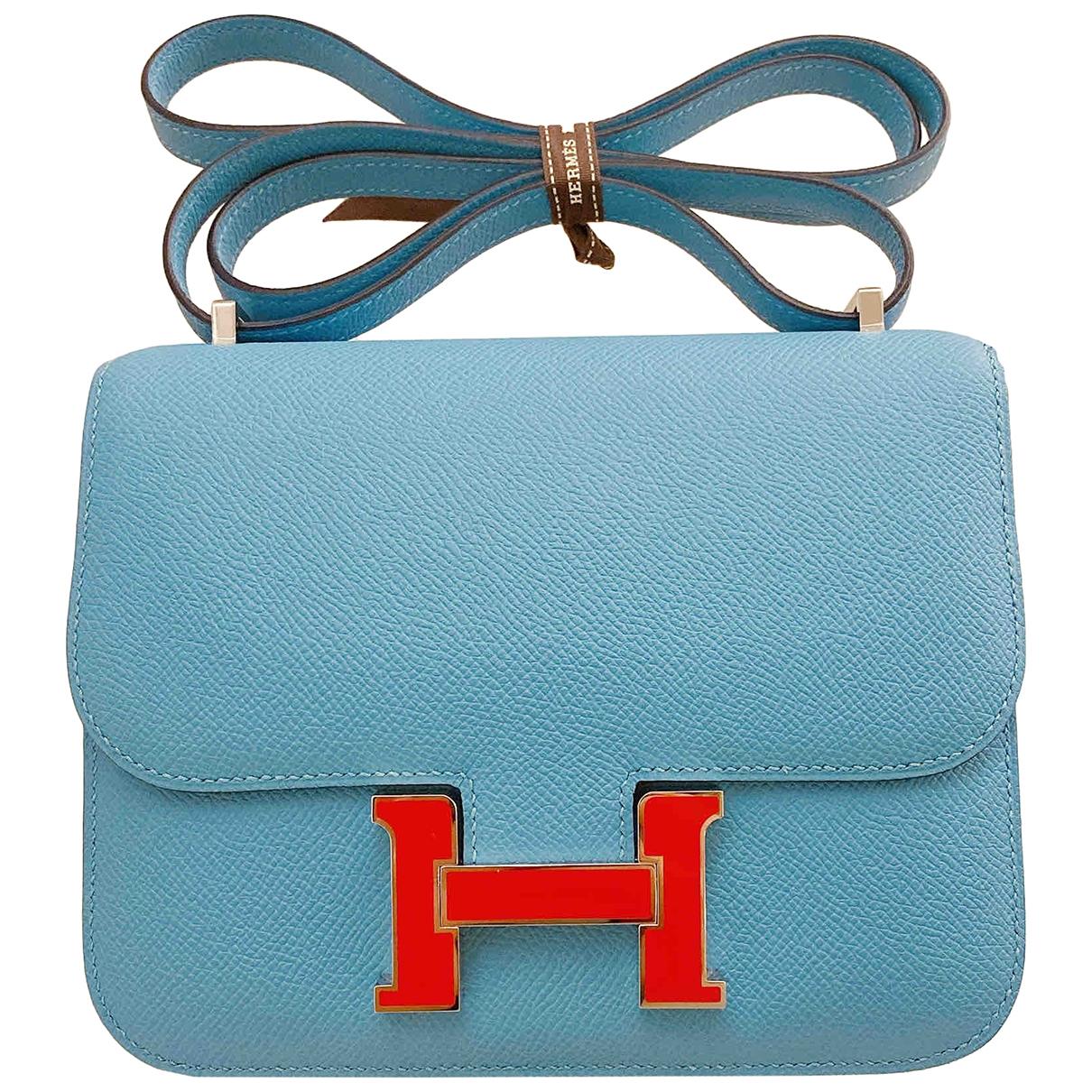 Hermès Constance Blue Leather handbag for Women \N