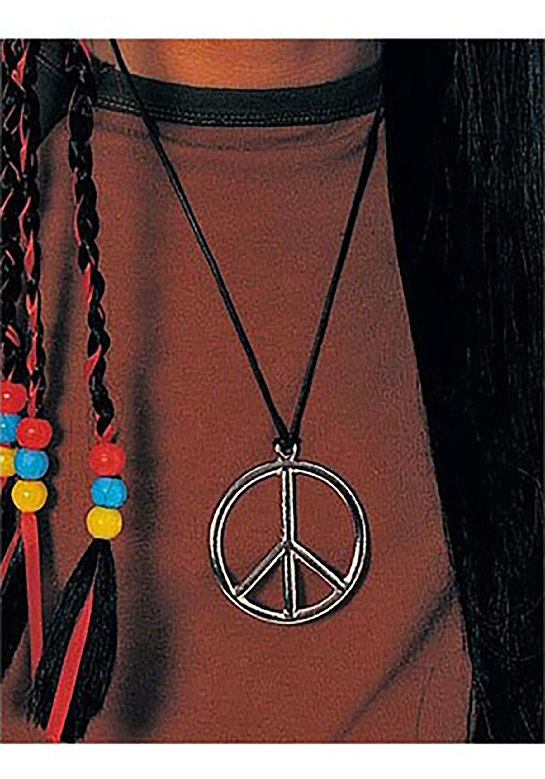 Peace Pendant Costume Necklace