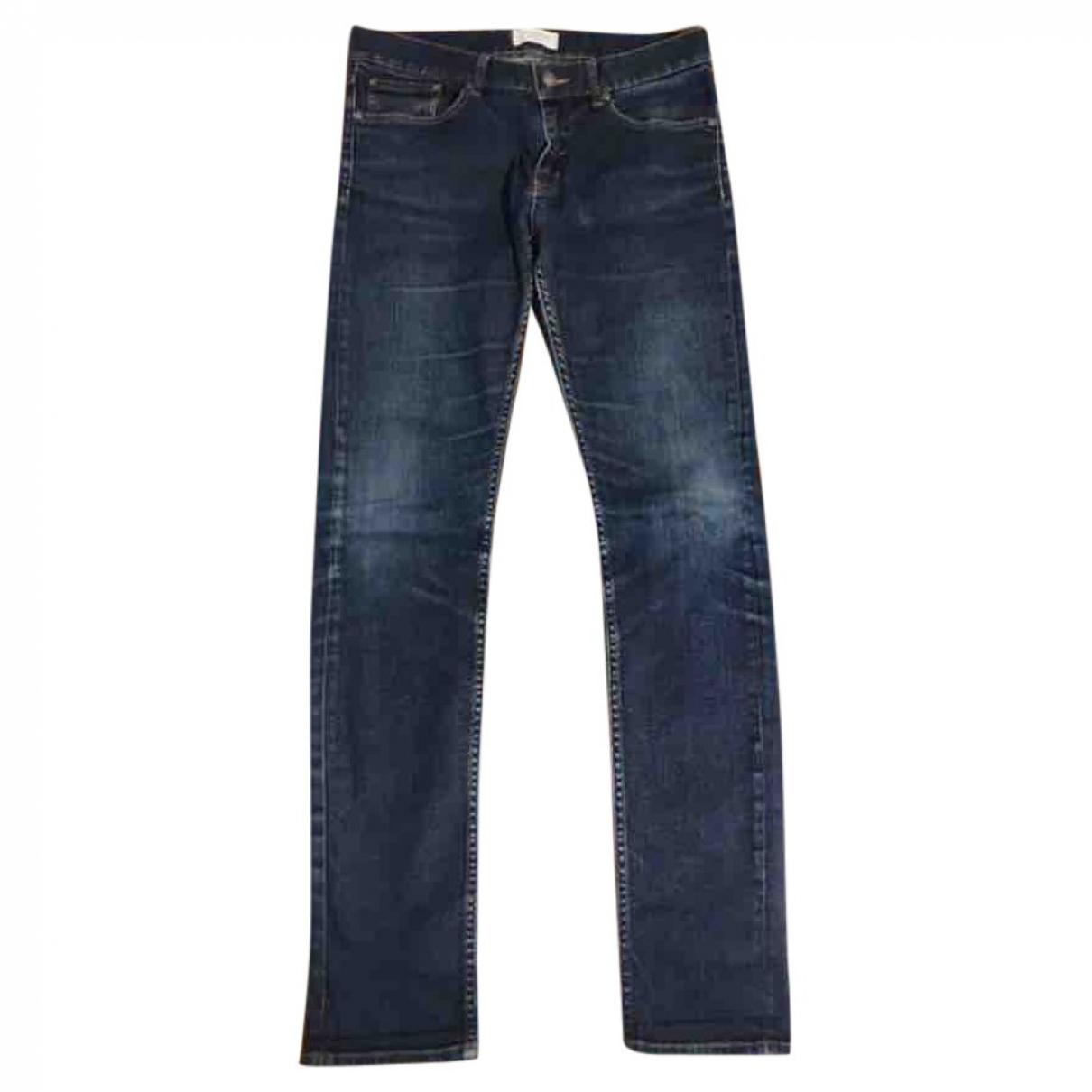 Eleven Paris \N Blue Cotton - elasthane Jeans for Men 29 US