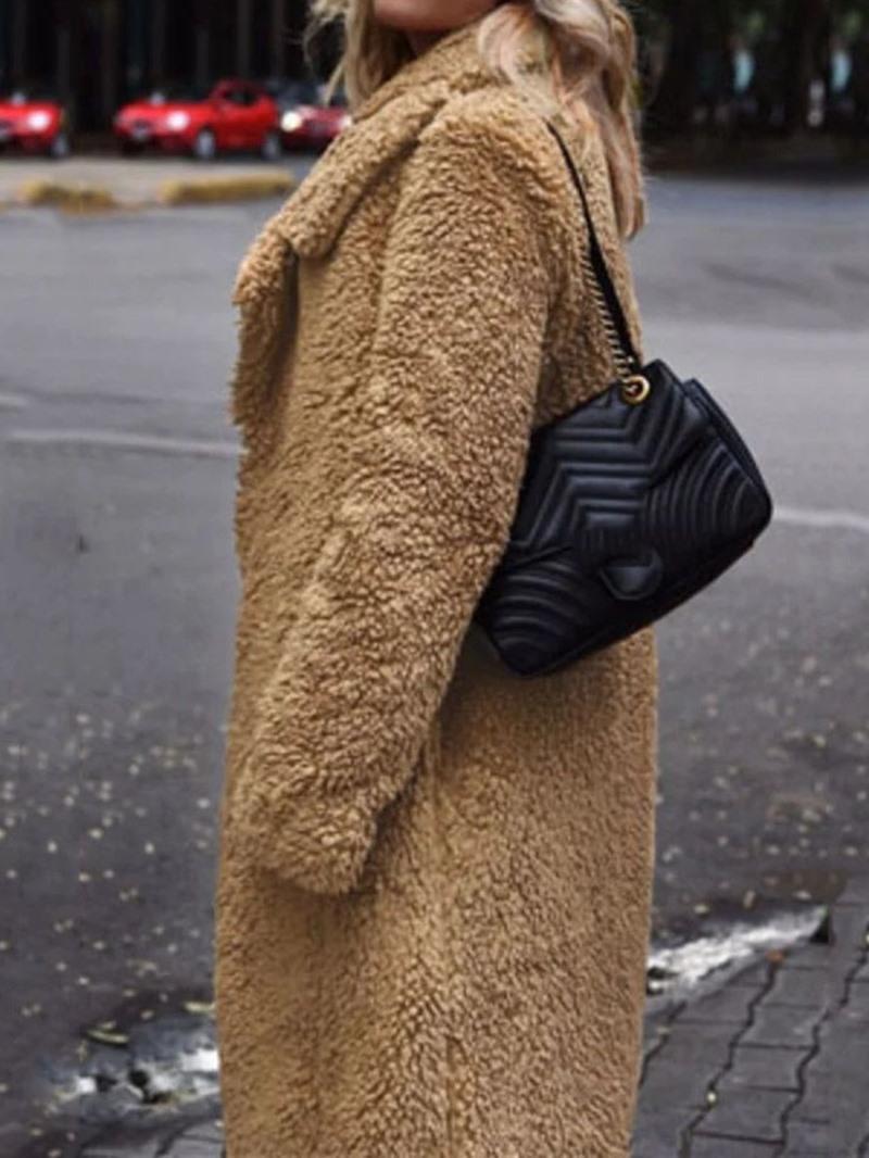 Ericdress Loose Lapel Long Overcoat