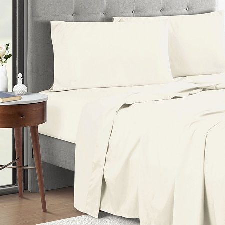 Microfiber Anti Bacterial Polygiene Sheet Set, One Size , White