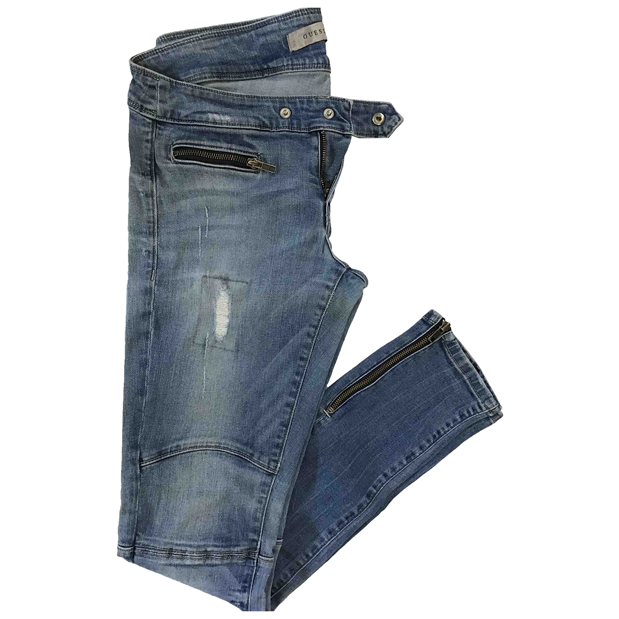 Guess \N Blue Cotton - elasthane Jeans for Women 38 FR