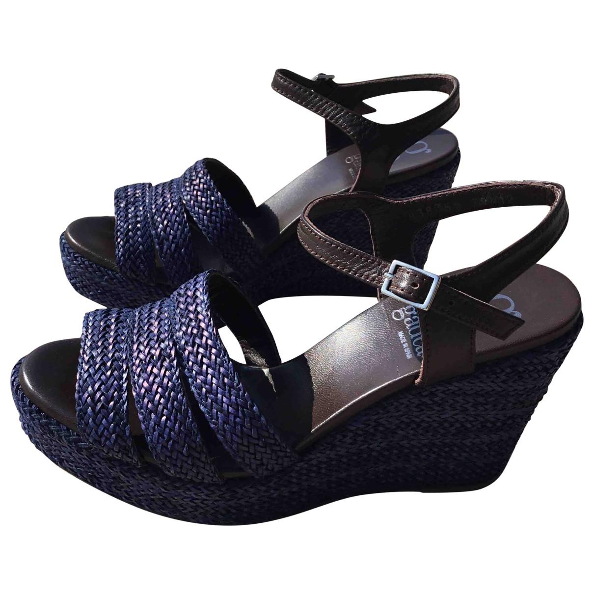 Non Signé / Unsigned \N Blue Cloth Sandals for Women 39 EU