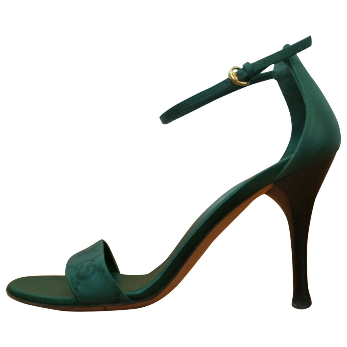 Gucci \N Green Cloth Sandals for Women 35 EU