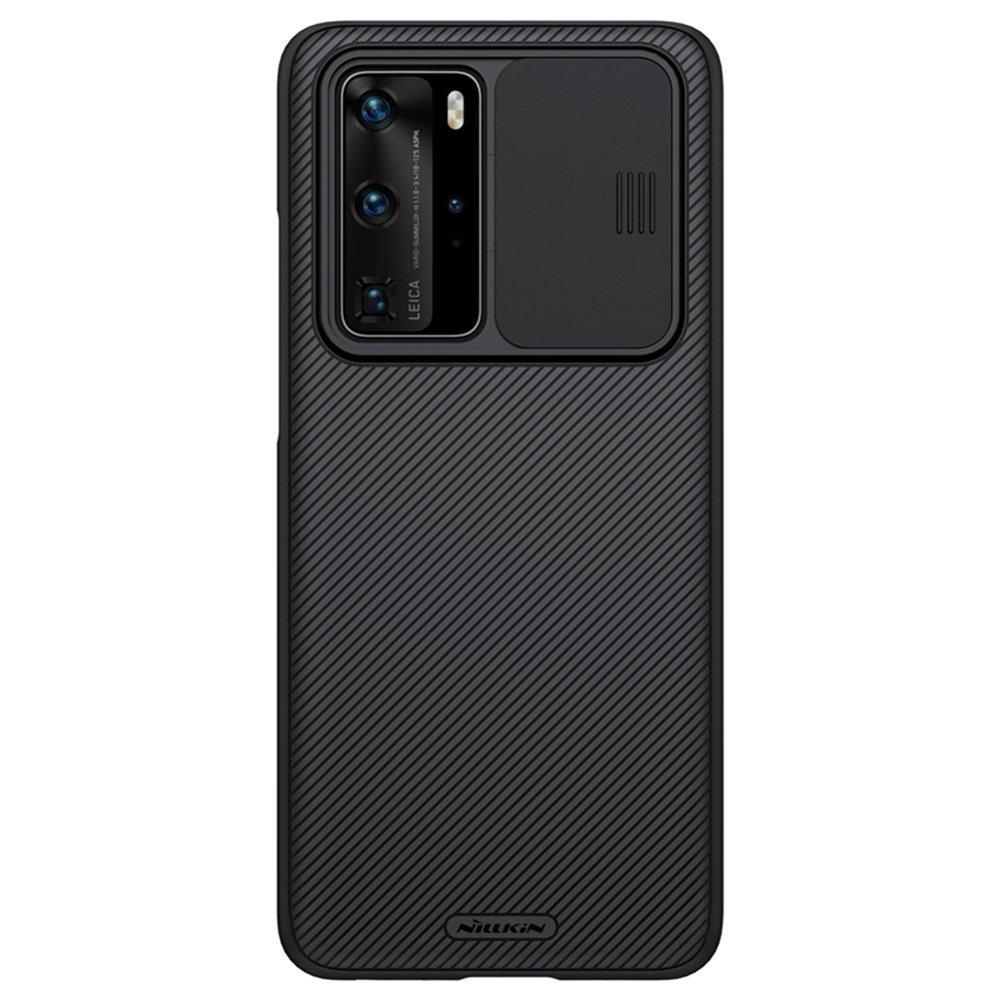 NILLKIN Black Mirror Series Protective Leather Phone Case For Huawei P40 Smartphone - Black
