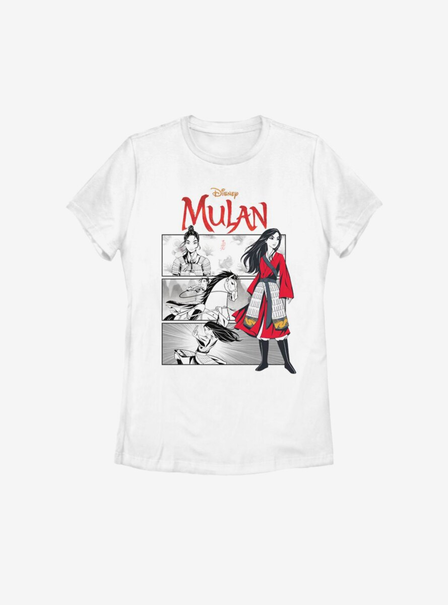 Disney Mulan Live Action Comic Panels Womens T-Shirt