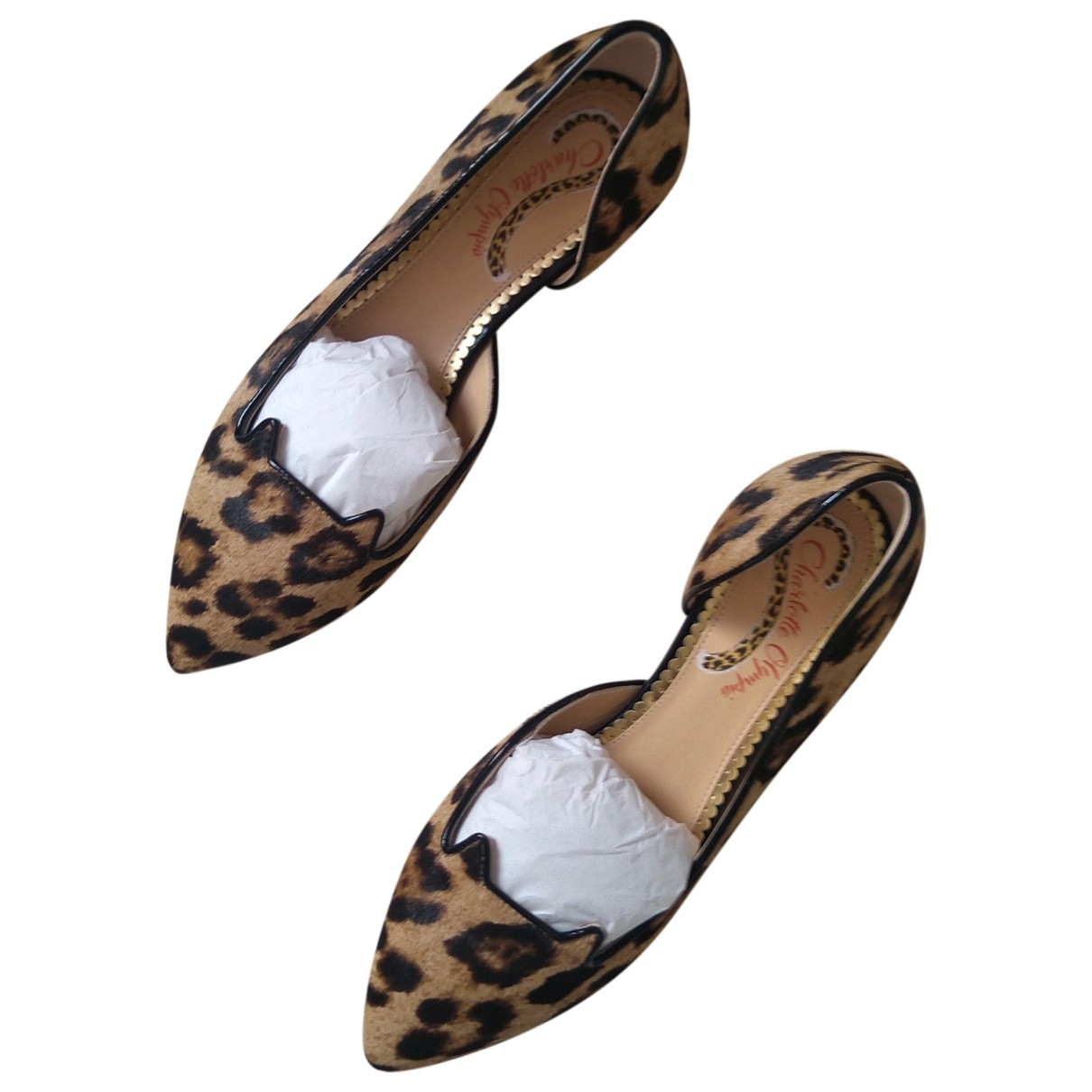 Charlotte Olympia \N Leather Ballet flats for Women 37.5 EU