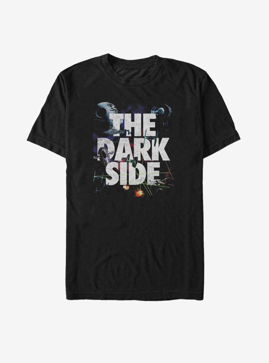 Star Wars Space Battle Interwoven Text T-Shirt