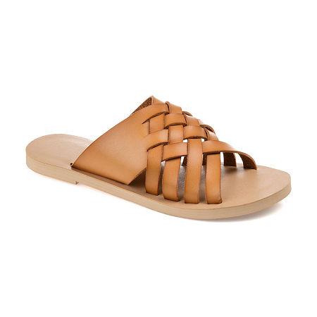 Journee Collection Womens Danni Slide Sandals, 8 Medium, Brown