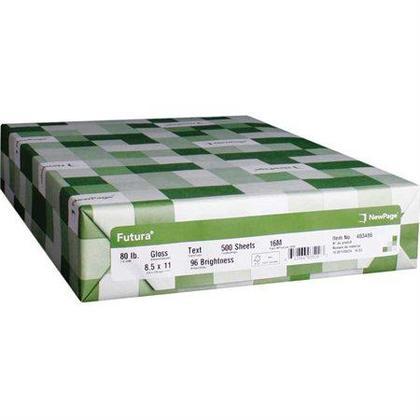Newpage® Futura Papier Laser Gloss, 80 lbs, 96 Bright, Letter