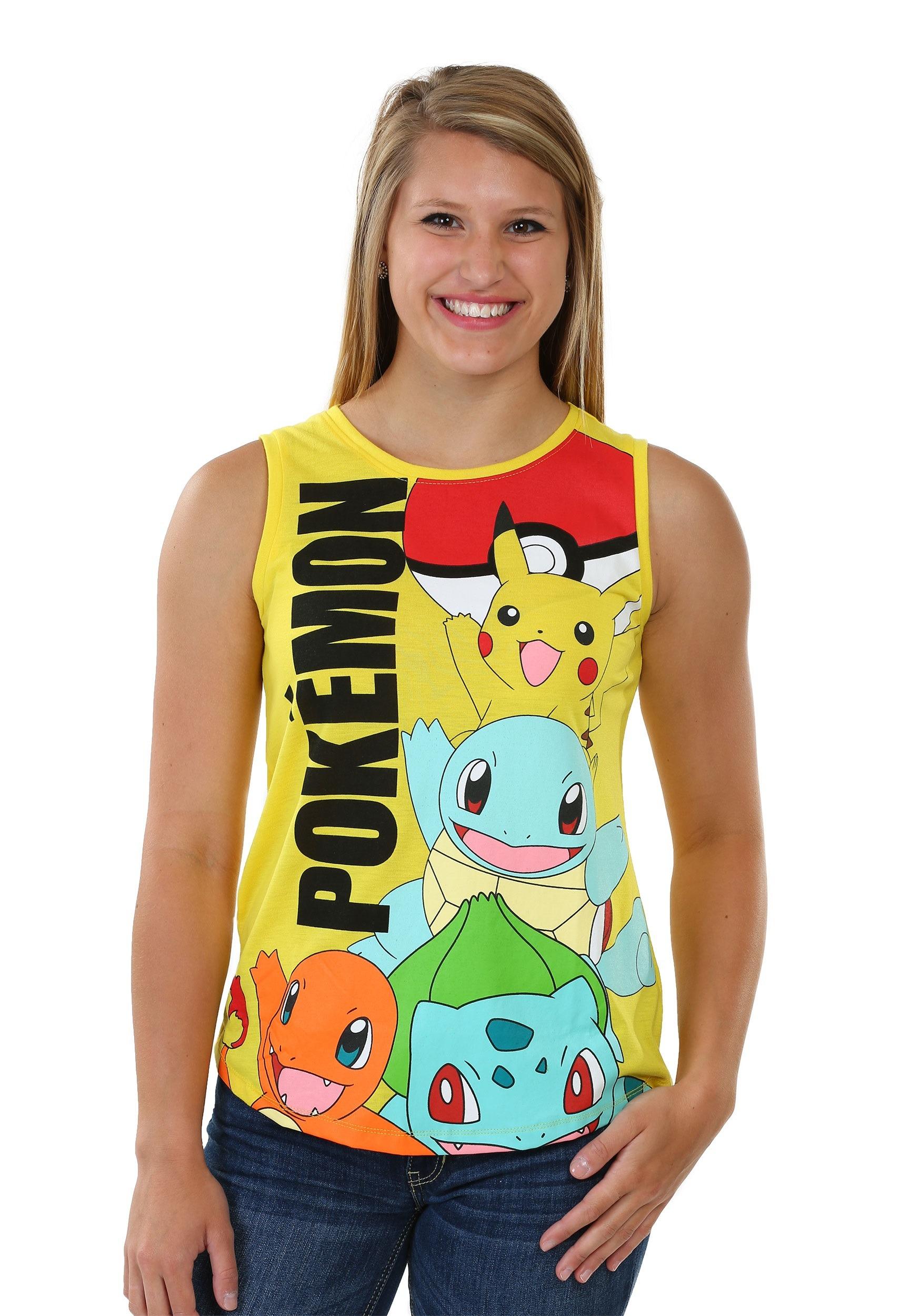 Womens Pokemon Panel Print Muscle Tank