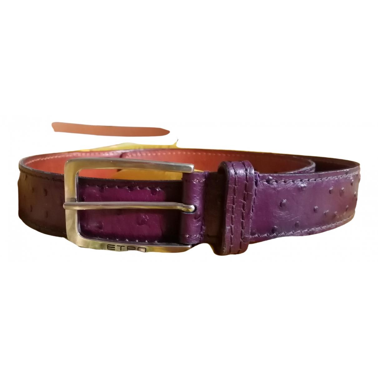 Etro \N Purple Ostrich belt for Women M International