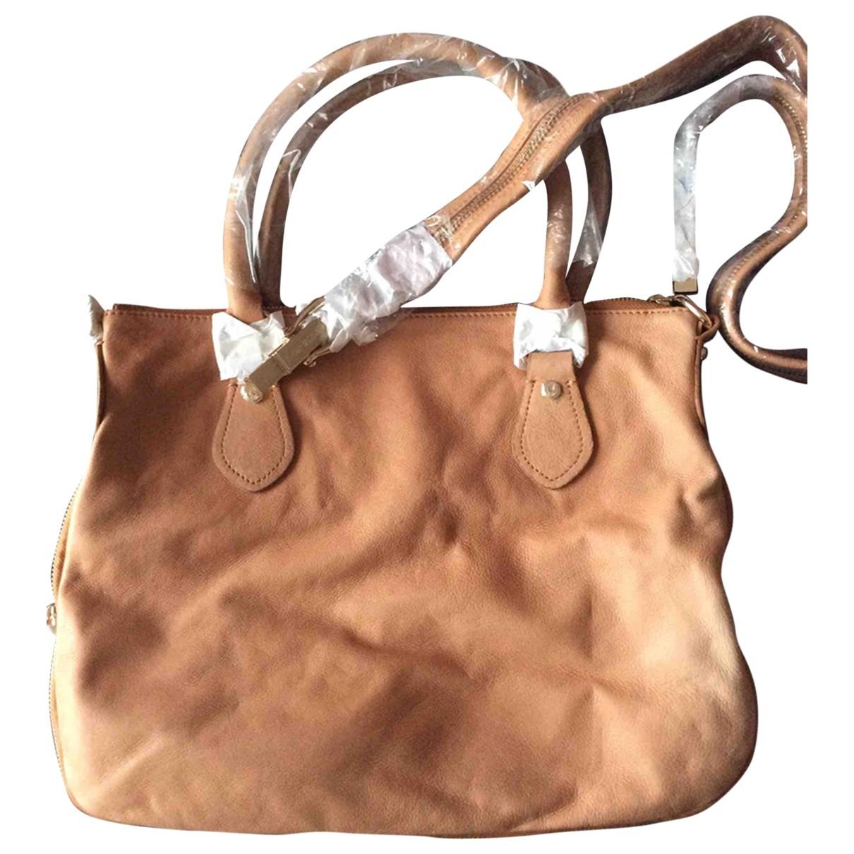 Moschino Love \N Camel Leather handbag for Women \N