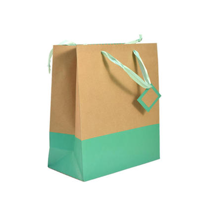 Gift Bag Present Bag Gold And Green , 1Pc