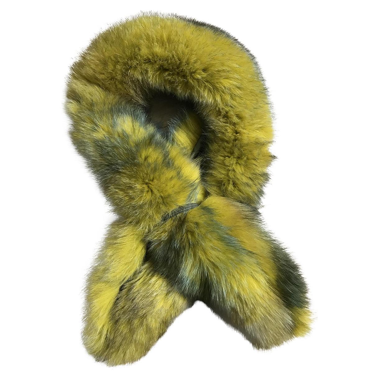 Sam Rone \N Yellow Fur scarf for Women \N