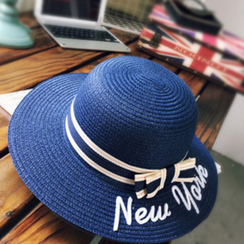 Ericdress Straw Plaited Summer Letter Hat