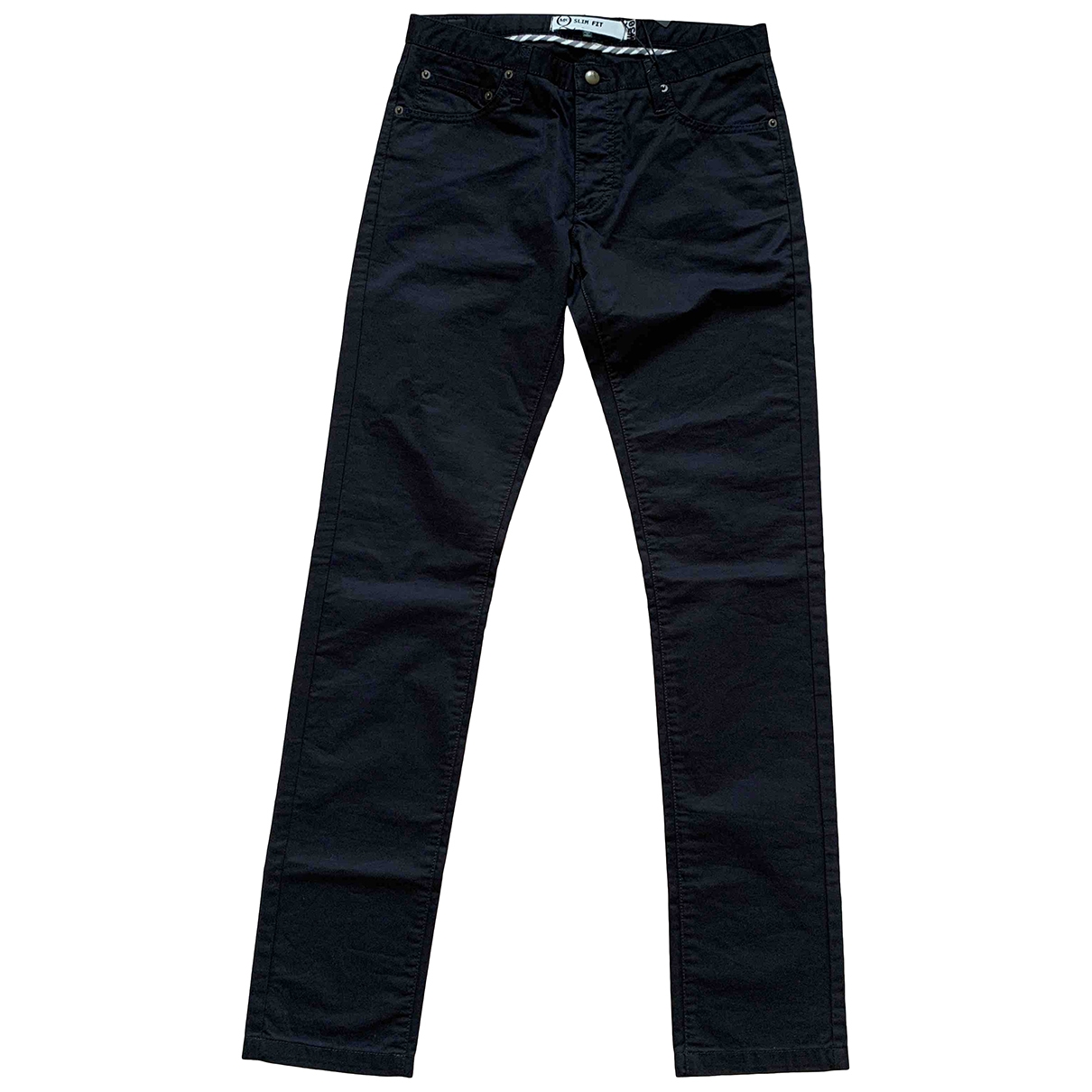 Mcq \N Black Cotton Trousers for Men 30 UK - US