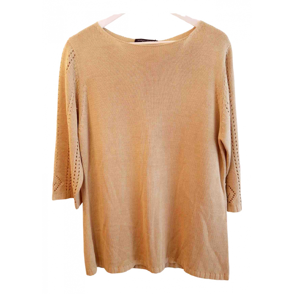 Non Signé / Unsigned \N Beige Silk  top for Women 18 US