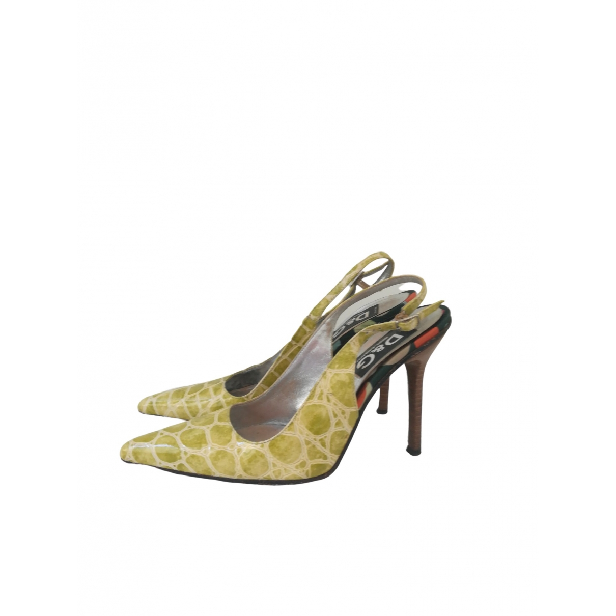 D&g \N Yellow Patent leather Heels for Women 38 IT