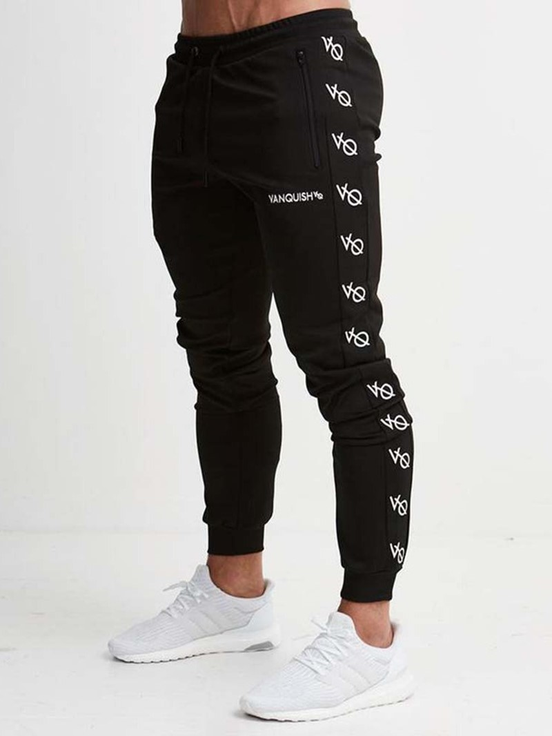 Ericdress Print Letter Fall Mid Waist Casual Pants