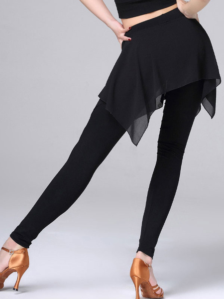 Milanoo Dance Costumes Latin Dancer Dresses Women Black Training Skirt Dancing Clothes Pants Halloween