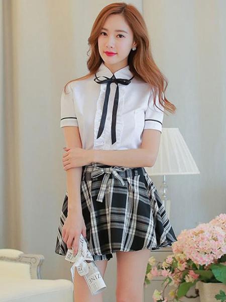 Milanoo Sweet School Girl Cosplay Costume Sailor Suit Summer School Uniform Halloween