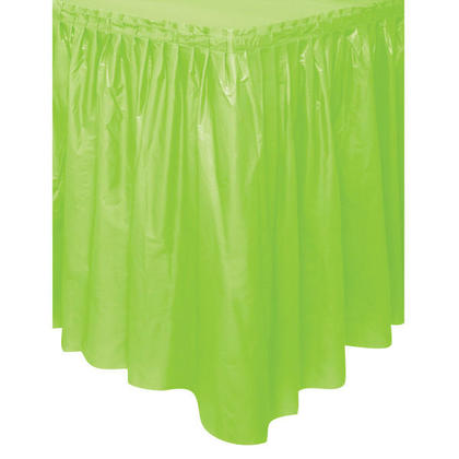 Party Plastic Table Skirt Solid Color Lime Green 29