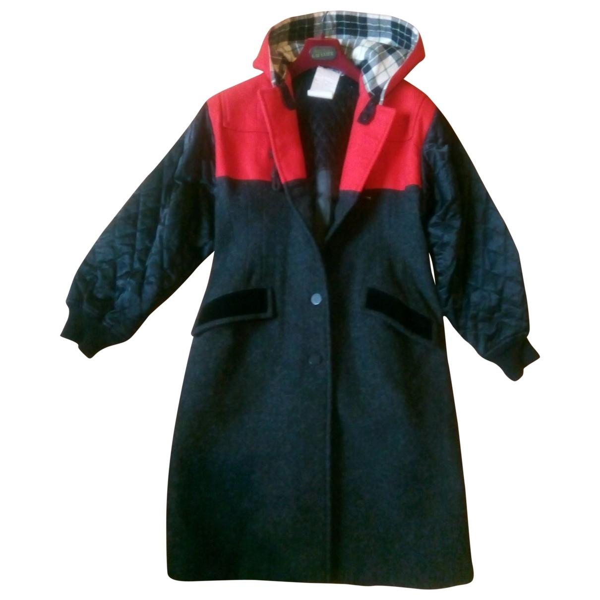 Jean Paul Gaultier \N Anthracite Wool coat for Women 44 FR