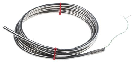 RS PRO Type K Thermocouple 2m Length, 6mm Diameter → +1100°C