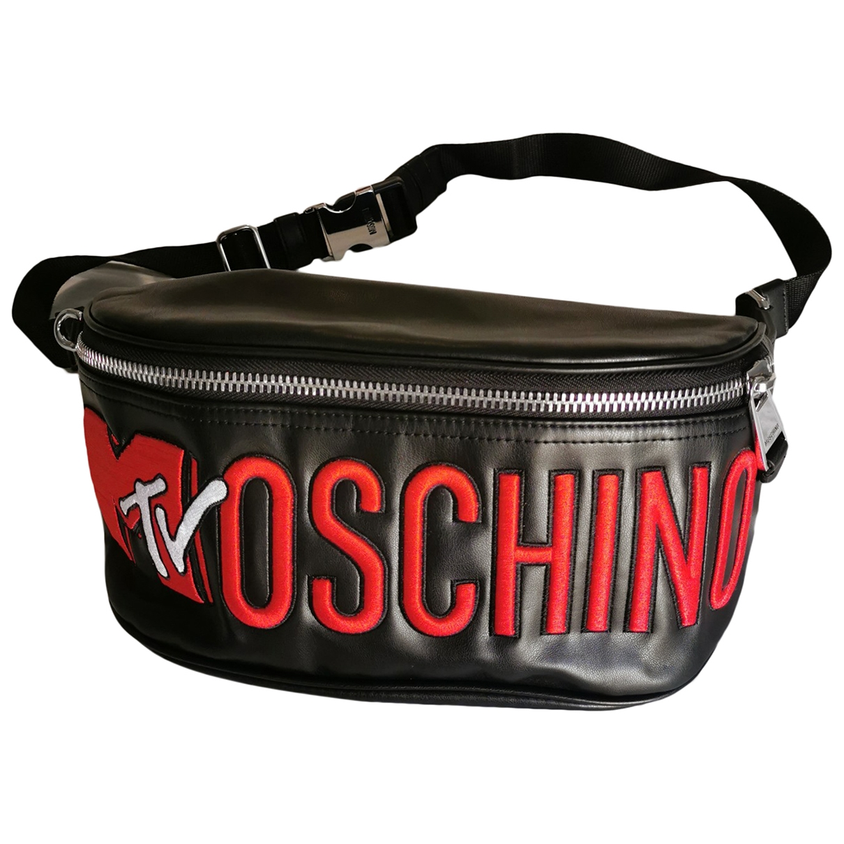 Moschino For H&m \N Black Leather Purses, wallet & cases for Women \N