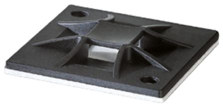 HellermannTyton Black Cable Tie Mount 40 mm x 40mm, 8.4mm Max. Cable Tie Width
