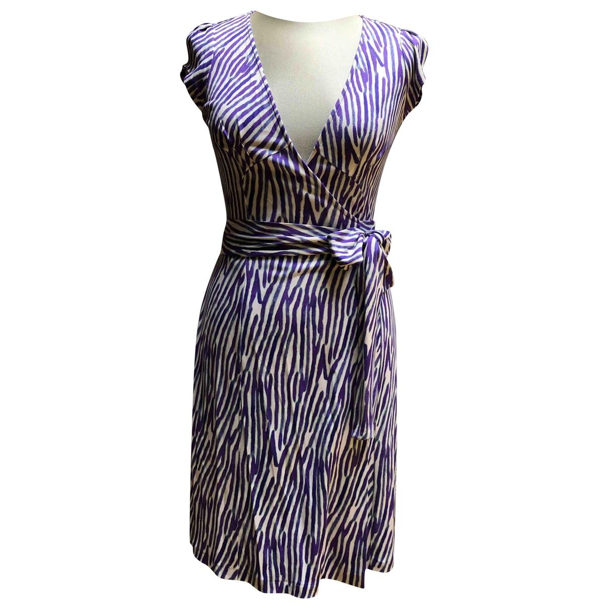 Diane Von Furstenberg \N Purple Silk dress for Women 6 UK