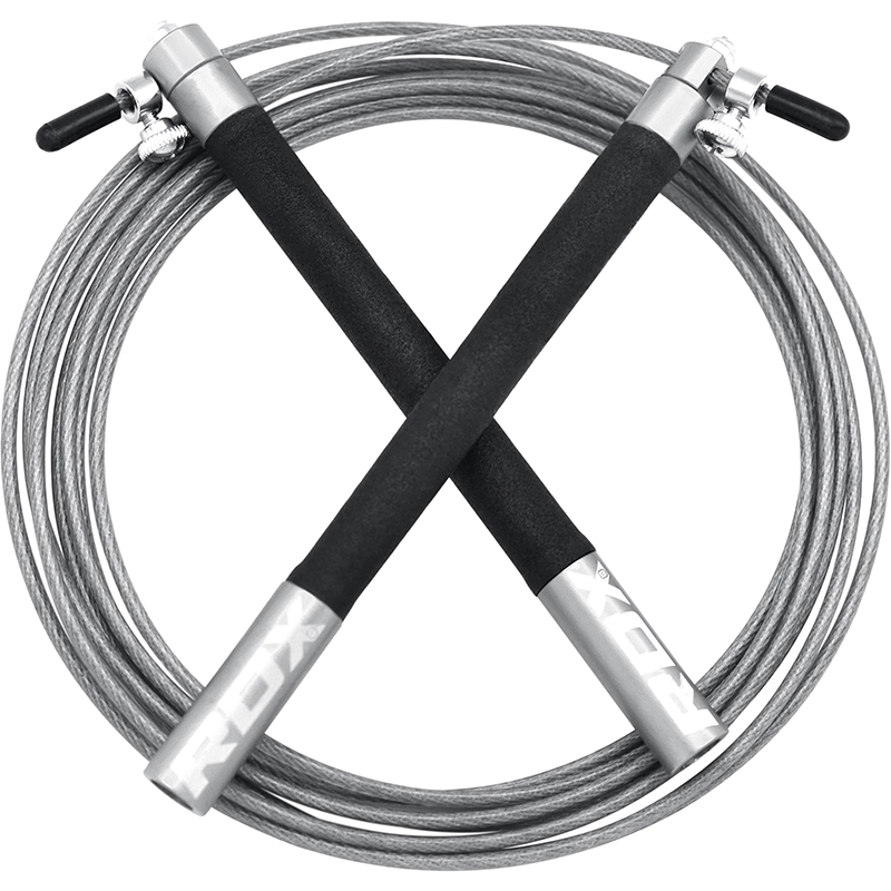 RDX C3 Adjustable Jump Speed Rope with Aluminum Handles Silver