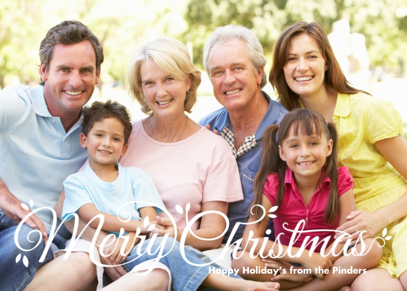 Christmas Photo Cards 5x7 Cards, Standard Cardstock 85lb, Card & Stationery -Script Merry Christmas