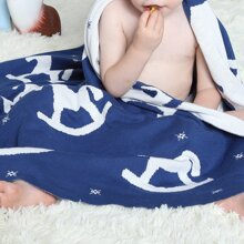 Cartoon Graphic Knitted Blanket