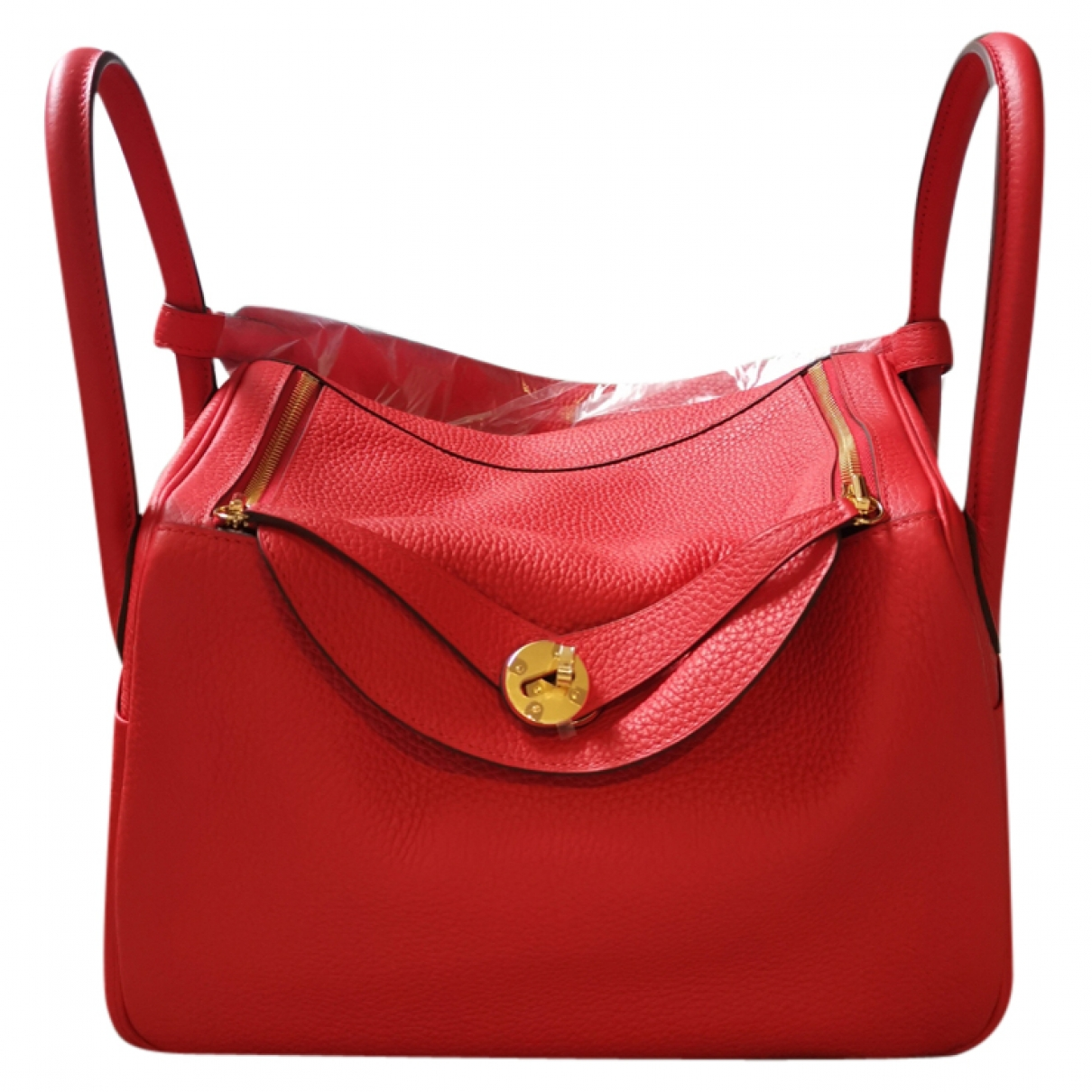 Hermès Lindy Red Leather handbag for Women \N