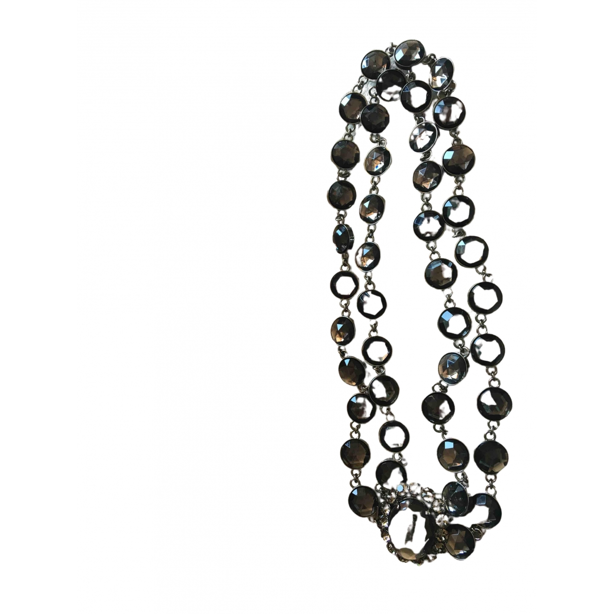 Miu Miu \N Anthracite Steel Long necklace for Women \N