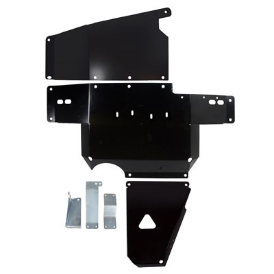 Synergy MFG 5710-BK JK Heavy Duty Complete Skid Plate System 2007-2011 Wrangler JK/JKU Black Powdercoated