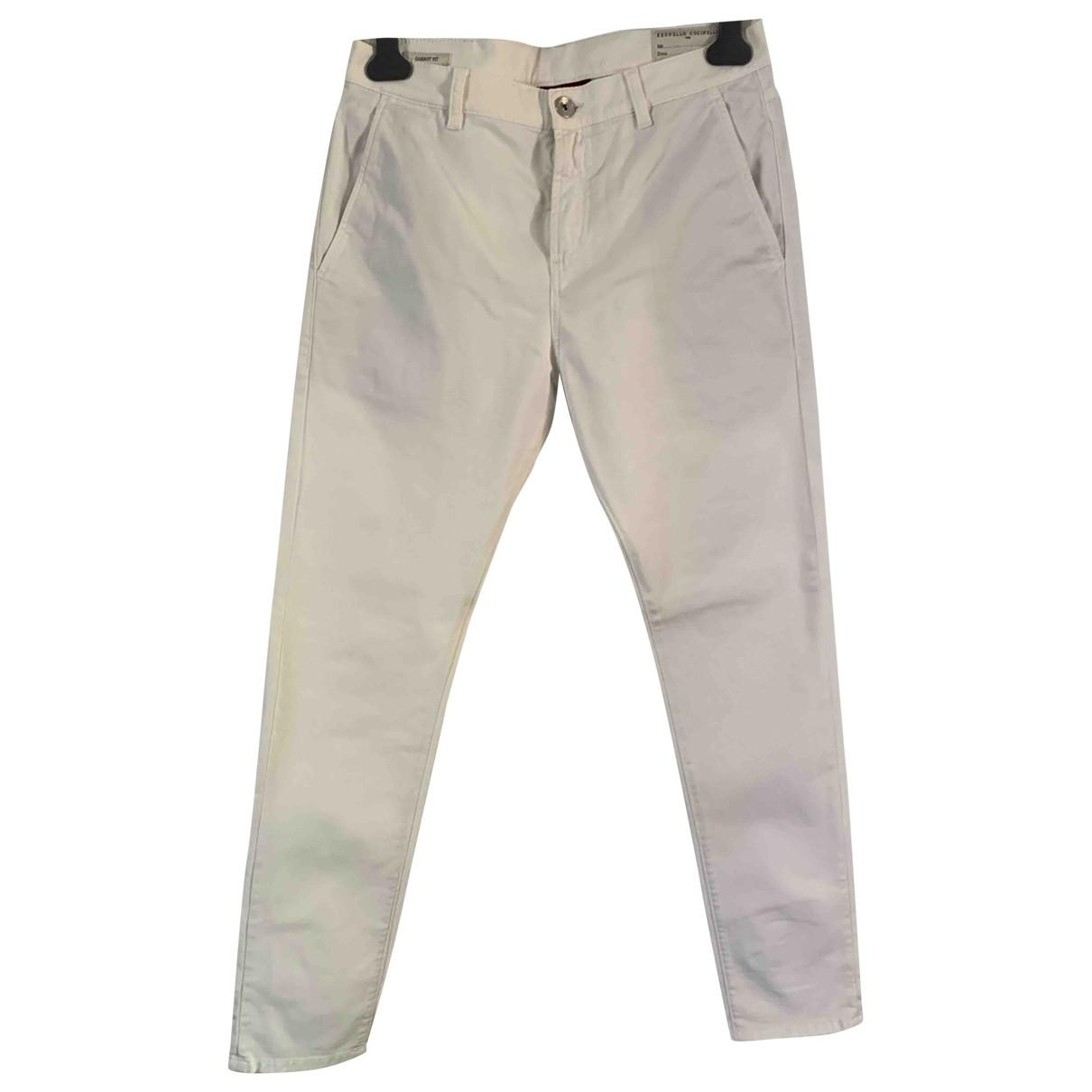 Brunello Cucinelli \N White Cotton Trousers for Men 46 IT
