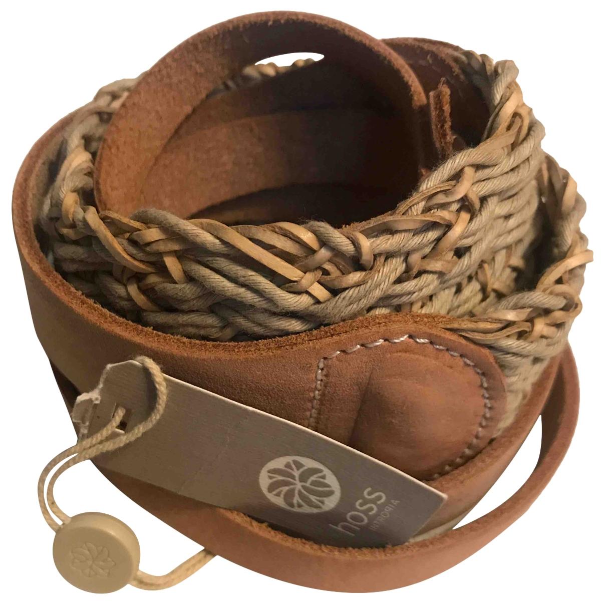 Hoss Intropia \N Beige Leather belt for Women S International