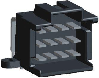 TE Connectivity , Timer, 12 Way, 3 Row, Right Angle PCB Header