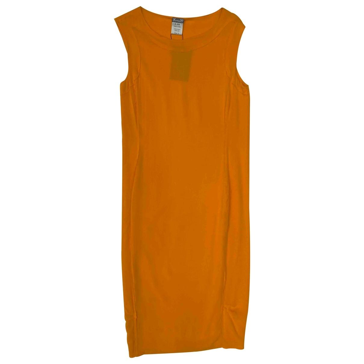 Kristensen Du Nord \N Orange Silk dress for Women 2 0-5